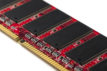 Close-up of computer RAM module