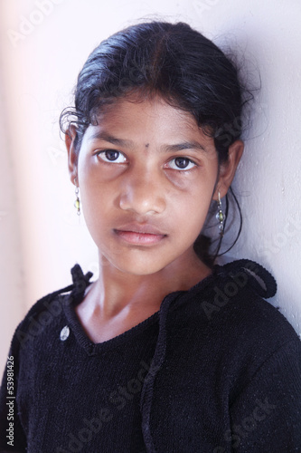 Depressed Indian Little Girl