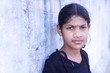 Indian Little Girl Posing to Camera