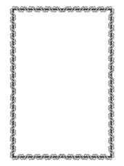 black ornamental decorative frame with ribbon