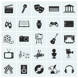Fototapety Collection of vector arts icons.