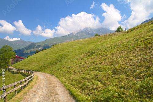 Mountain path, Alps