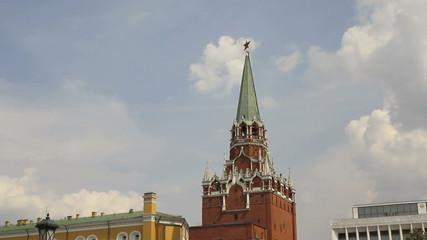 Troitskaya Tower of Moscow Kremlin, Timelapse