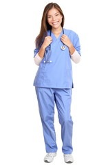 Doctor - Female Surgeon With Stethoscope Smiling