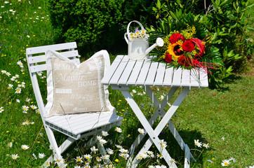 Gartenstuhl Blumen Sommer
