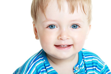 boy on white background