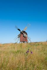 Windmühle auf der Insel Öland, Schweden