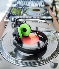 Vinyl Player with headphones
