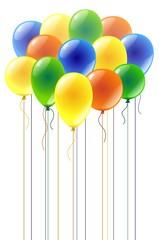 Разноцветные воздушные шарики