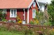 Typisches rotes Holzhaus in Pataholm, Schweden
