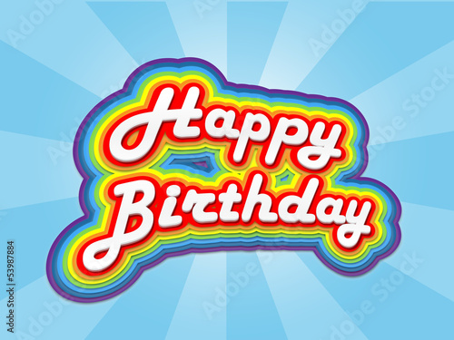 """HAPPY BIRTHDAY"" Card (celebration party fun congratulations)"