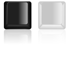 Black and White keyboard keys