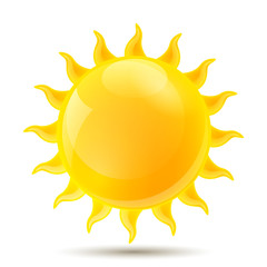 Vector Illustration of of an Abstract Sun