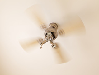 Vintage ceiling fan in motion