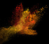 Fototapety launched colorful powder