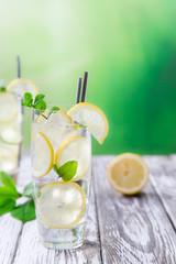 Glass of lemon limonade