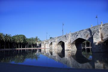 Old stone bridge on Spain