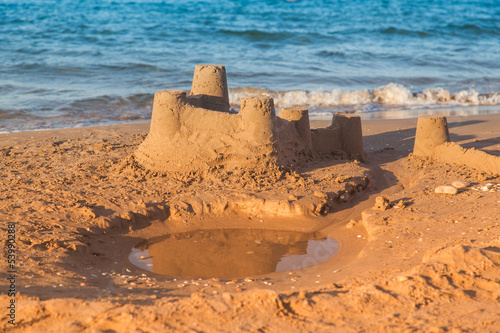 Sandcastle - concept of making save building