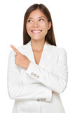 Businesswoman Pointing While Looking Away