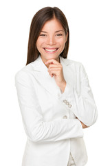 Young Businesswoman With Hand On Chin