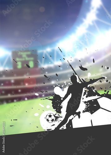 Soccer sport background