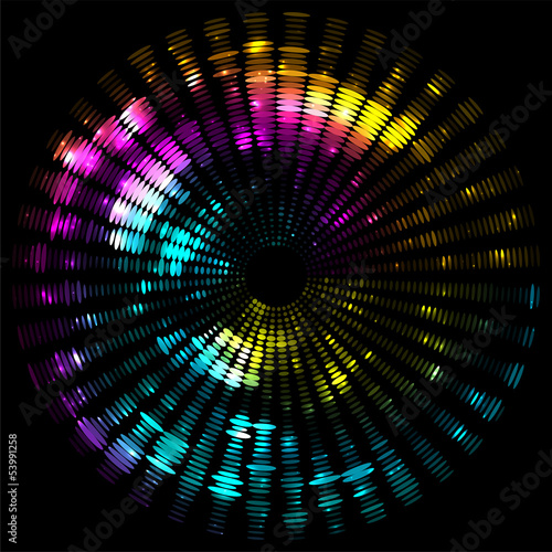 abstract colorful dots elliptical background