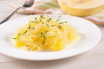 Cooked yellow spaghetti squash