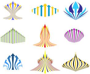 arrow set, business icons