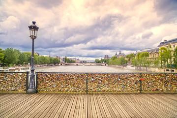 Pont des Arts bridge, Seine river. Paris, France.