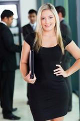 pretty blond office worker