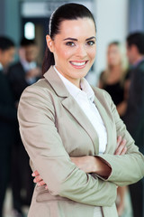 caucasian businesswoman close up portrait