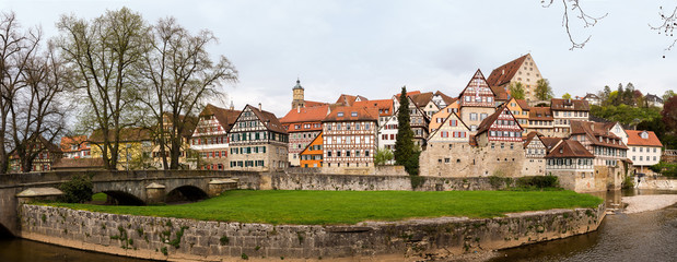 Panorama of Schwabisch Hall Germany