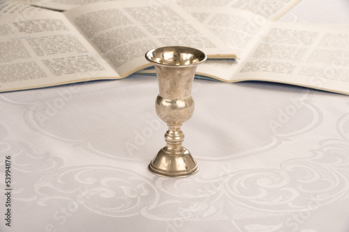 Kiddush Cup and Haggadah