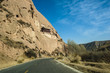 The road through mountains in Zhangye, Gansu of China