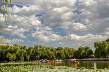 Scene of imperial park, Beihai in Beijing