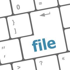 file button on computer pc keyboard key