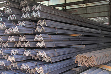 Not equal sides Angle steel features piled together