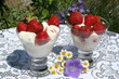 Swedish Midsummer dessert - strawberries and ice-cream