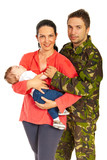 Military man and his family