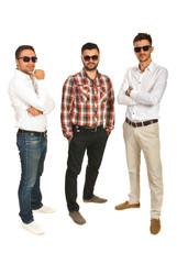 Modern business men posing