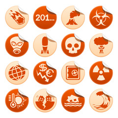 Apocalyptic and natural disasters stickers