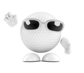 Golfball waves hello