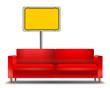Sofa Ortsschild leer