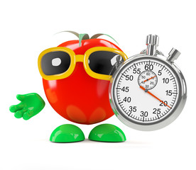 Tomato gets his stopwatch out