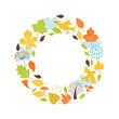 Autumnal round frame