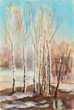 Birches on the sun