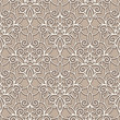 Abstract seamless beige lace pattern