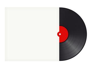 Schallplatte mit Hülle mit Textfreiraum