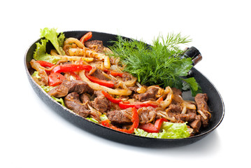 traditional mexican beef fajitas