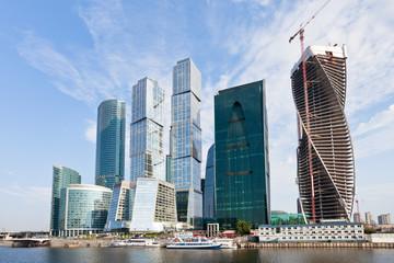 The Moscow City skyline